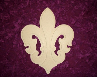 Fleur De Lis Wood Cut Out Unfinished Layered MDF Wooden cut outs 15 inch stacked wood