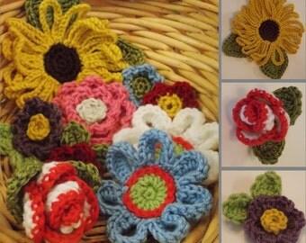 Flowers, Flowers, Flowers Crochet Pattern - Instant Download