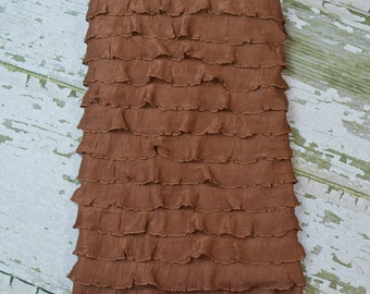REDUCED: Sable Brown Ruffled Blanket Perfect for Infant Photo Shoot Backdrop, 8 Colors Available, Newborn Photo Prop, Photography Backdrop
