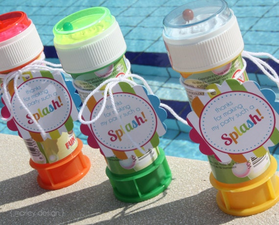 Pool Party Favors Ideas party favors for kids pool party Instant Download Pool Party Favor Tags Birthday Printables Splish Splash Summer Thank You Favors 2 Inch