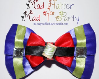 Mad Hatter (Mad T Party) Hair Bow