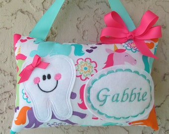 Tooth Fairy Pillow Unicorn Personalized