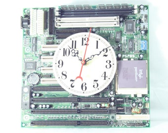 Green intel pentium Motherboard Wall Clock, Geekery, Clocks by DanO