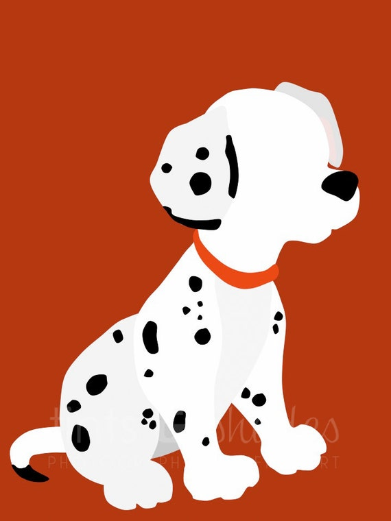101 Dalmatians Minimalist Poster by TintsShadesFineArt on Etsy