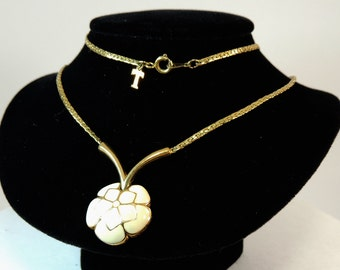 Trifari Enamel Tagged Necklace Vintage Jewelry