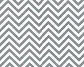 Robert Kaufman Fabric Anne Kelle Remix Grey Chevron - One Yard