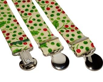 Yellow MistleToe Adjustable Suspenders