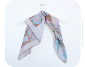 Geometric print scarf, vintage scarf