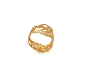 Gold Hadasana ring  from the sabrawear collection.