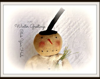 E - Pattern... Winter Greetings Snowman.... Click Your Heels....