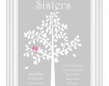 SISTERS gift print - Personalized gift for your Sister - Wedding Gift for Sister - Christmas Gift -Birthday Gift- Colors can be changed