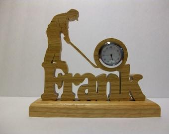 Golfer's Desk Clock, Personalized