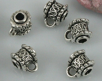 40pcs tibetan silver color textured bail connector EF0476