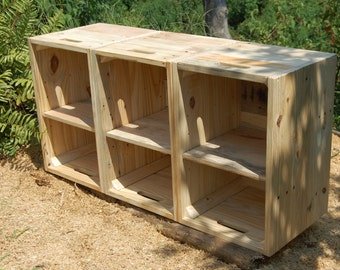 Wooden Crates with Adjustable Shelves/ Bookcase/ Storage Solution