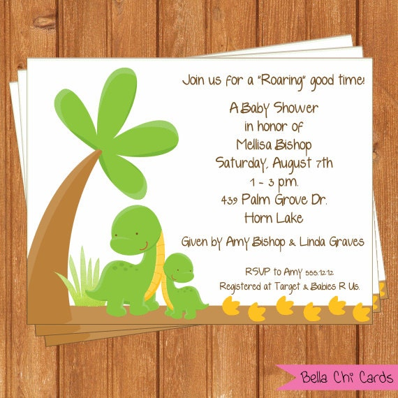 Baby Dinosaur Invitation | Baby Shower | Printable Editable Digital PDF File | Instant Download | BSI165DIY