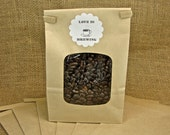 Kraft Bags With Window - Self Closing - Perfect For Wedding Coffee Favors - Kraft Favor Bags - 10