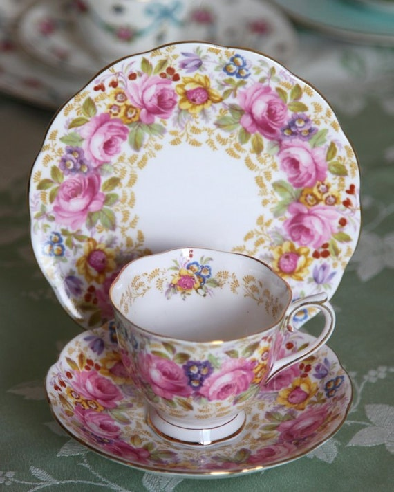 Like this item? & Royal Albert SERENA Bone China Trio TeaCup Saucer u0026 Plate No.