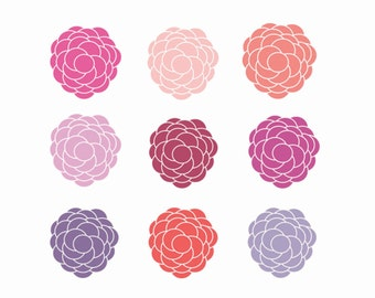 60% OFF SALE  Pretty Flower Clipart digital Download Images commercial Use Clipart Flowers
