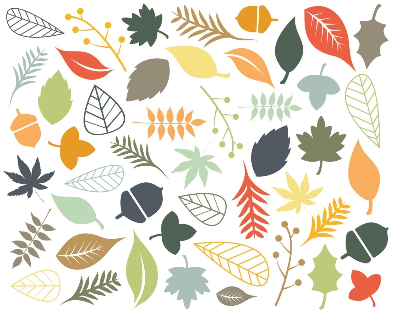 60% OFF SALE Digital Clipart Clip Art Leaf Clip Art Autumn