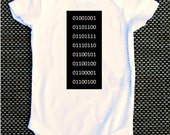 Binary Code I love Mom/Dad baby onesie geeky nerdy funny cute new mom new dad science scifi baby shower gift present