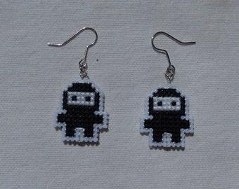 Ninja Cross Stitch Earrings