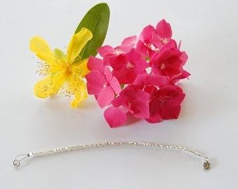 Bracelet,handmade, crystal Svarovsky,white,iridescent,women,children, jewel,made in Italy