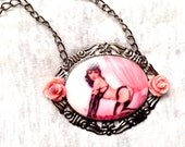 Burlesque Sexy Dancer Pin-up Girl Necklace