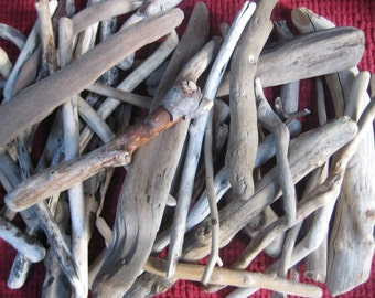 LARGE LOT--Bulk Driftwood-Drift Wood Pieces--Beach Wedding Decor-Craft Supplies