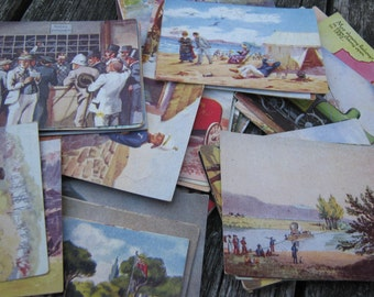 1930s Our South Africa Past & Present Vintage Cigarette Trading Cards