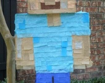 Minecraft Party Pinata Regular, Zombie, Herobrine