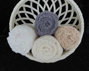 Neutral Photogrophy Cheesecloth Wraps... Baby Photo Wraps...Set of 4.. Hand dyed Photo wraps