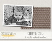 Christmas Card Template, 7x5in Photoshop Template, INSTANT DOWNLOAD, sku10-17
