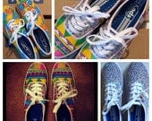 FREE SHIPPING - Any Pair of Keds - Handpainted Custom - Keds Canvas Shoes