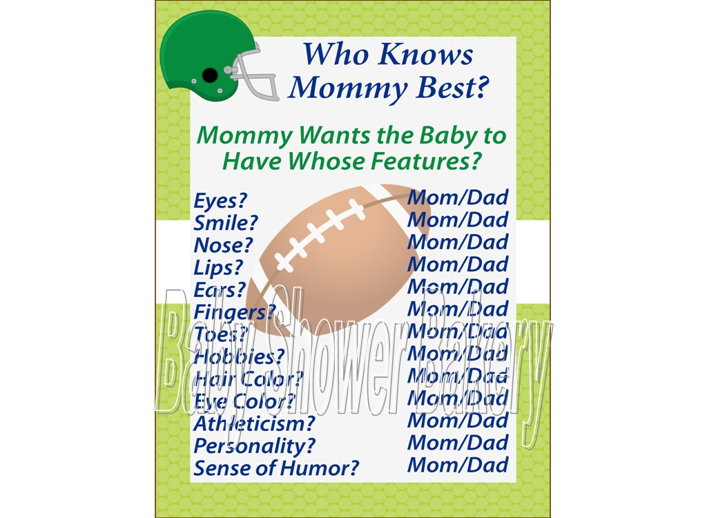 football baby shower game sports theme baby shower game