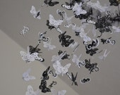 Classic Silhouettes Damask (Black/White Butterfly Mobile) Nursery Decor, Baby Shower Gift