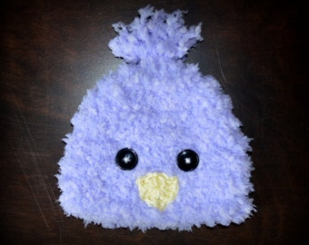 Crochet Easter Fuzzy Chick Baby Beanie Hat Photo Prop Custom Made Boy Girl