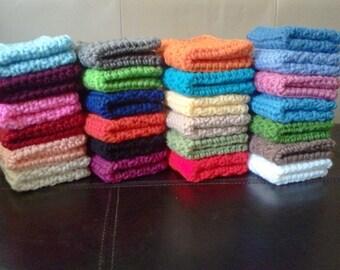 Set of 3 Crochet Dish Cloth or Wash Cloth Homemade