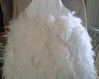 Feather dress - fluffy, full and any color you want.  weddings, birthdays, parties, dress up