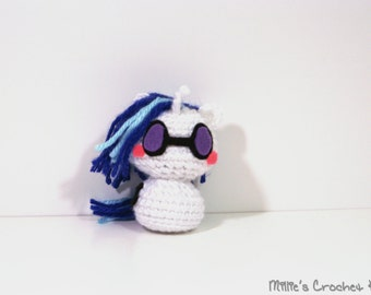 Crochet DJ Pon-3 My Little Pony Amigurumi Toy