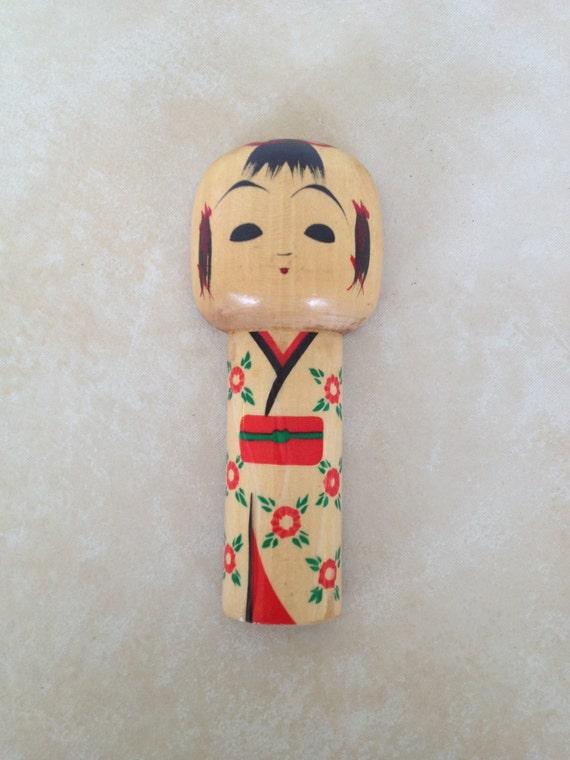 Japanese Kokeshi Doll Wooden Bottle Opener