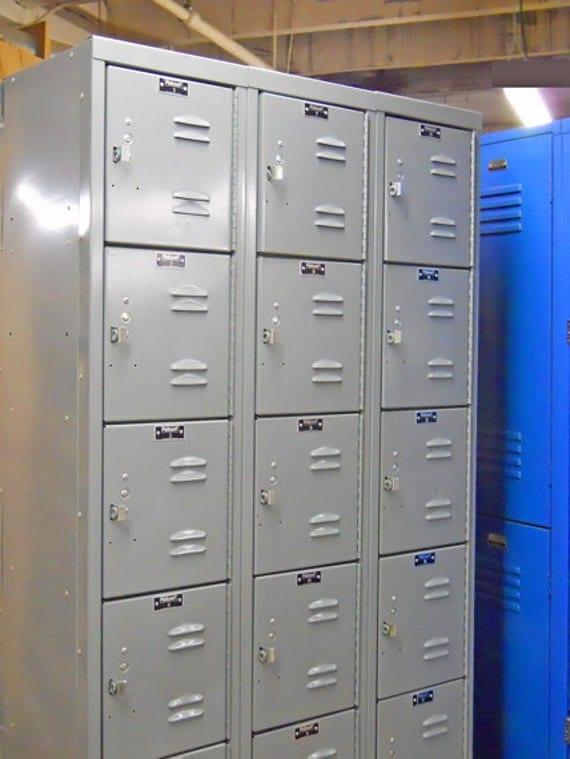 Industrial Metal Locker 18 Cubby Storage By