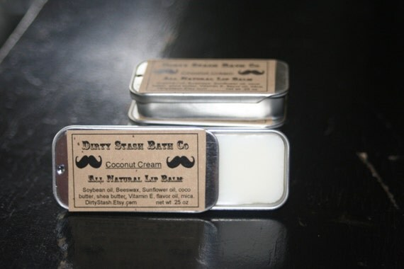 Natural Lip Balm Tin made with Organic ingredients .25 oz  Coffee Time