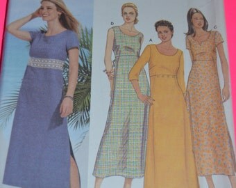 Simplicity 7207 Misses Pullover Dress TSewing Pattern - UNCUT - Sizes 6 8 10 12