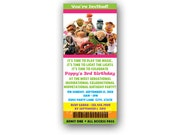 Ticket style Muppets Birthday Invitation - Custom Digital File