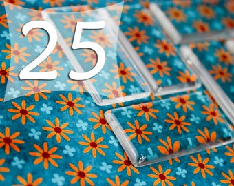 1x2 Inch Rectangle 25x50 mm Domino Clear Cabochon Glass Tile Cabs