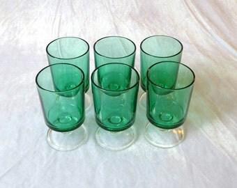 Luminarc Cavalier, 10.5cm wine glasses in turquoise, set of 6