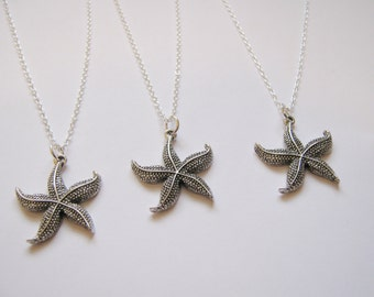 3 Best Friends Starfish Necklaces
