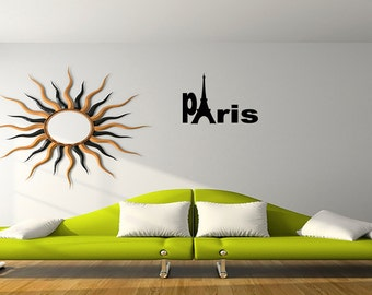 Wall Quotes Paris Tower girls room Vinyl Wall Decal Quote Removable Wall Sticker Home Decor (M21)