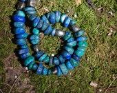 Reserve-Azurite and Pyrite Bracelet