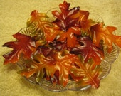 Reservation for Elizabeth - Silk Autumn Leaves & poinsettia Soap